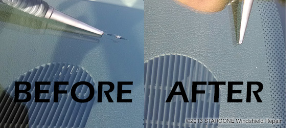 Stargone Windshield Repair - Before and After